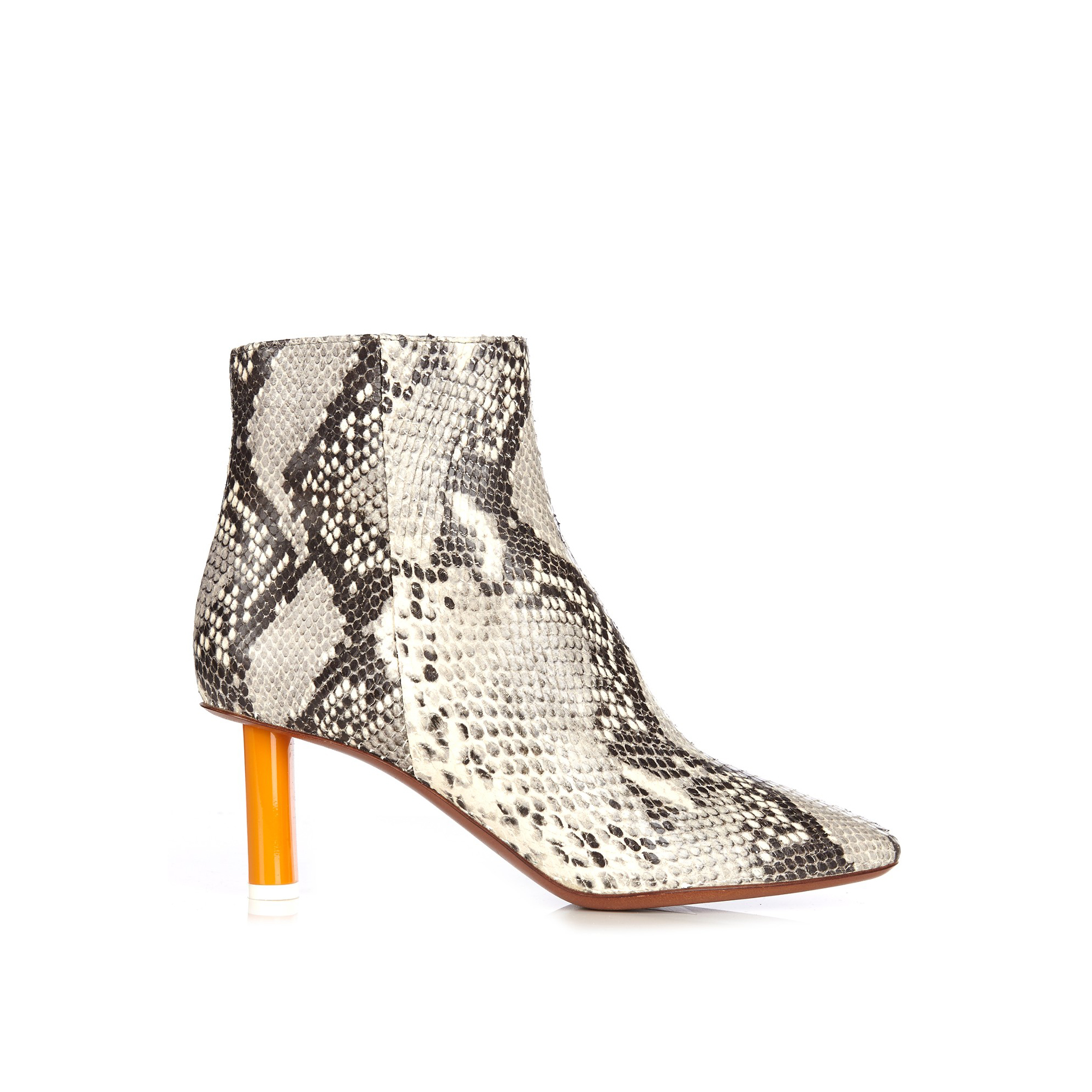 VETEMENTS Python-effect Ankle Boots