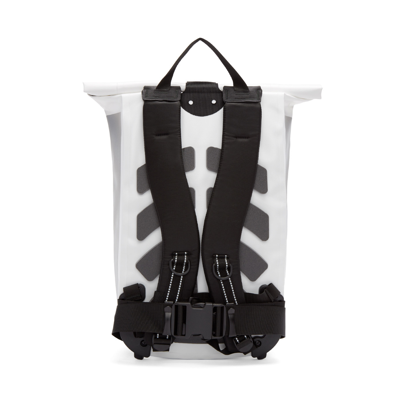 11 by BORIS BIDJAN SABERI White Roll-Top Velocity Backpack