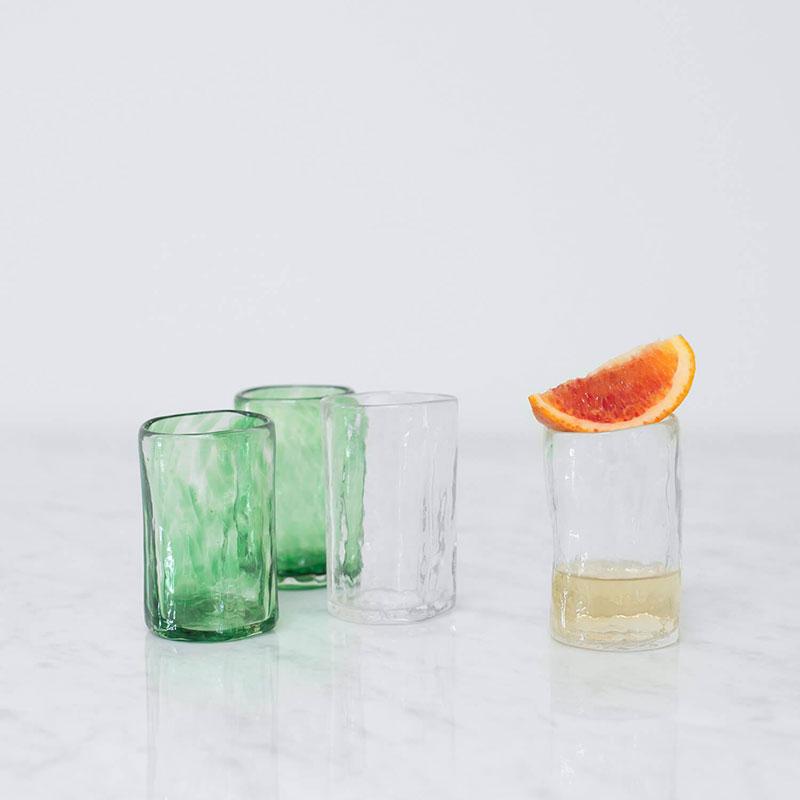 Apasco Mezcal Glasses – Green & Clear