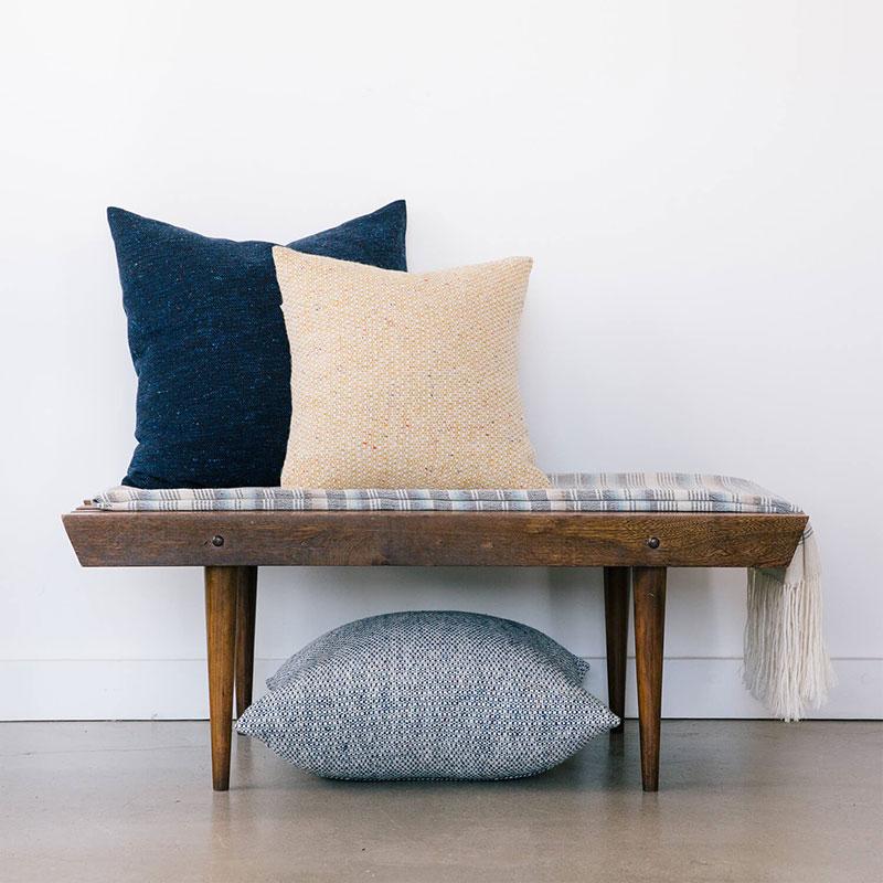 Aster Tweed Pillows – Indigo