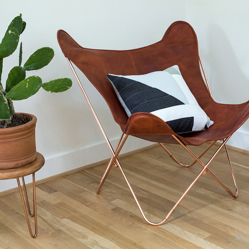 Corbet Pillow – Blue Linen