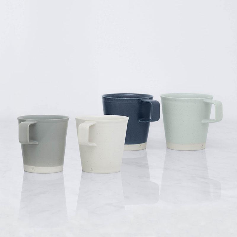 Halston Mugs – Grey