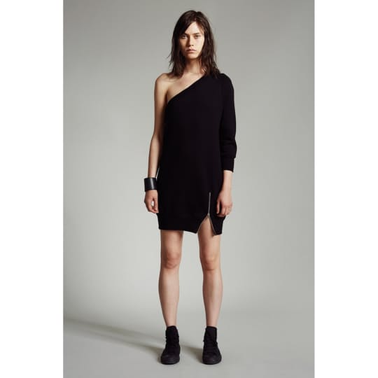 Asymmetrical Sweatshirt Dress