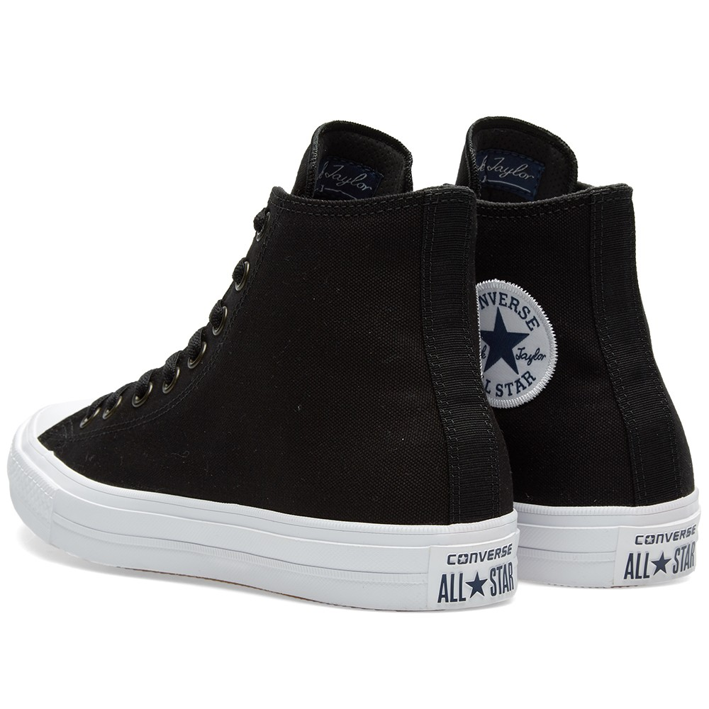 CONVERSE Chuck Taylor II HI in Black, White & Navy