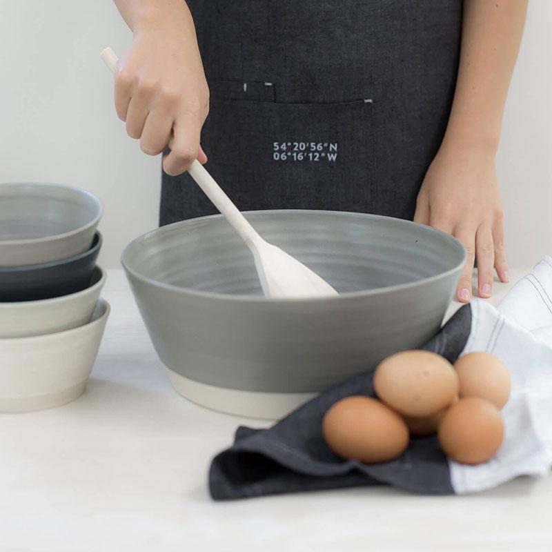 Halston Serving Bowl - Grey