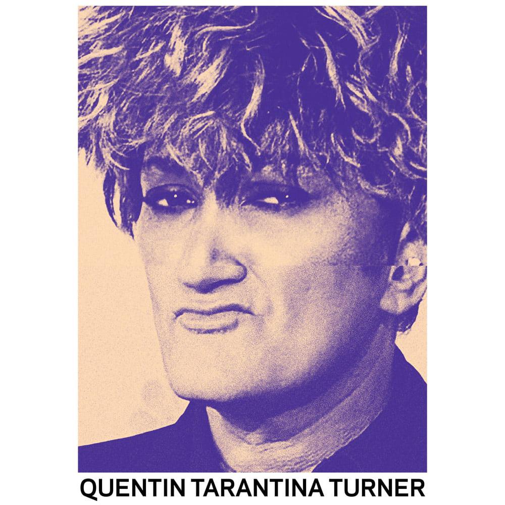 STUDIO KALLE MATTSSON 'QUENTIN TARANTINA TURNER' Mashup Art Print