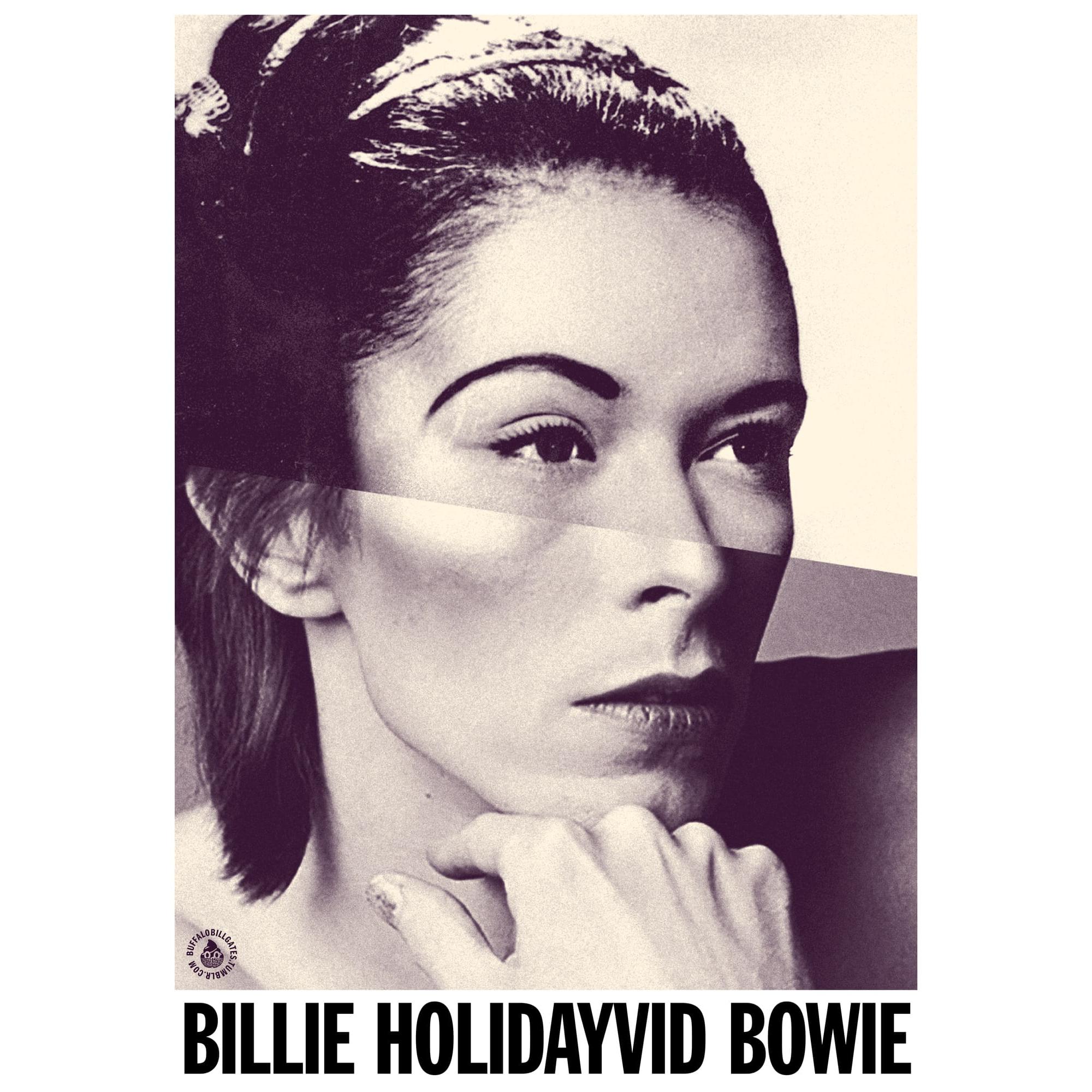 STUDIO KALLE MATTSSON 'BILLIE HOLIDAYVID BOWIE' Mashup Art Print