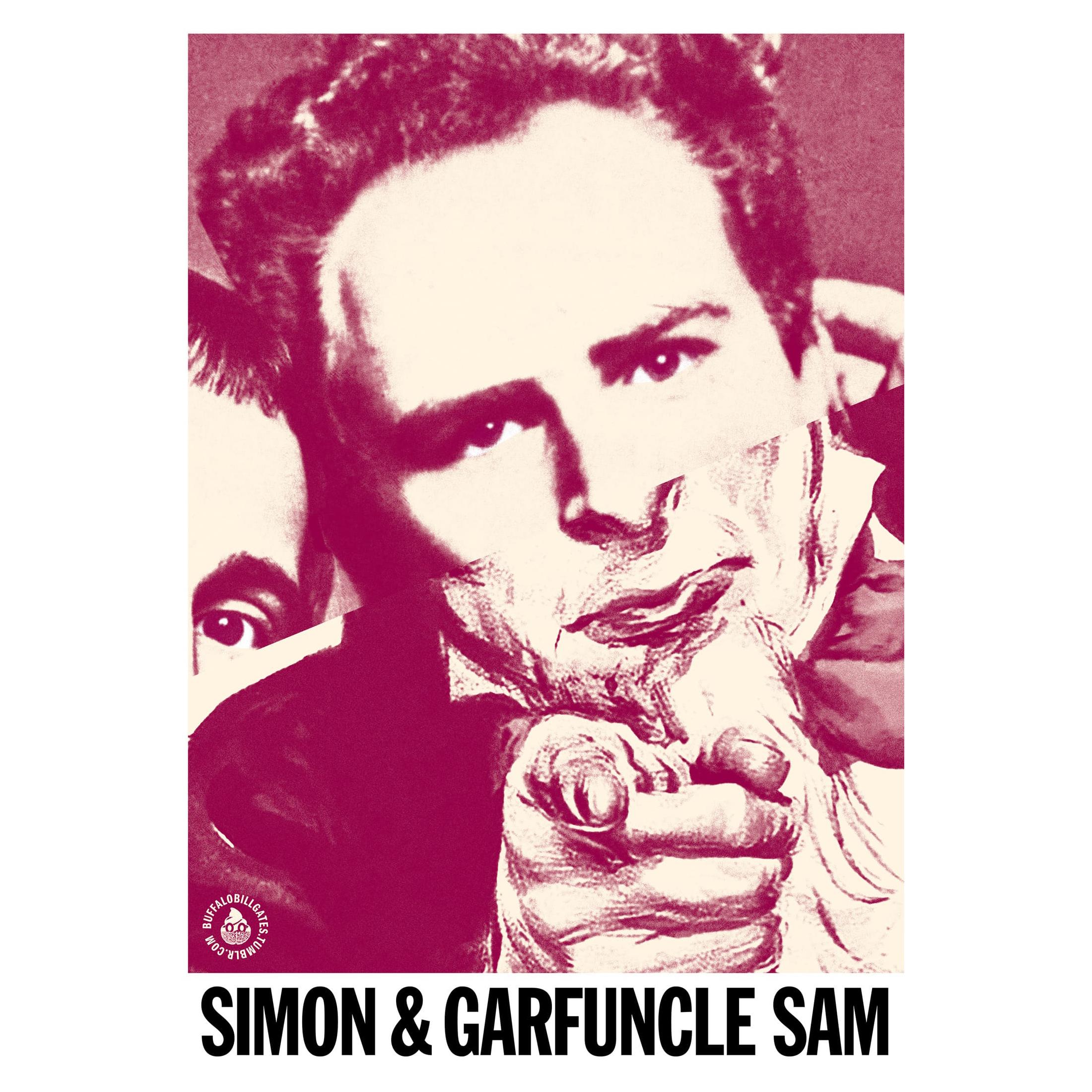 STUDIO KALLE MATTSSON 'SIMON & GARFUNCLE SAM' Mashup Art Print