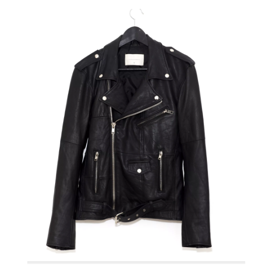 DEADWOOD Recycled Leather Womens Biker Jacket