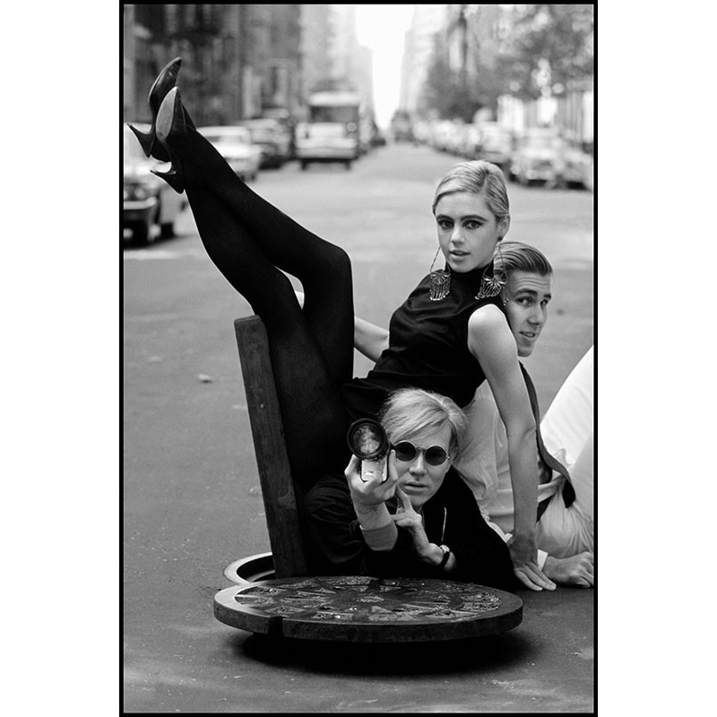BURT GLINN Andy Warhol With Edie Sedgwick and Chuck Wein 1964
