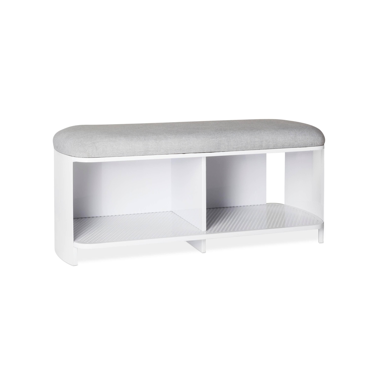 Modern by Dwell Magazine Bench White/Gray