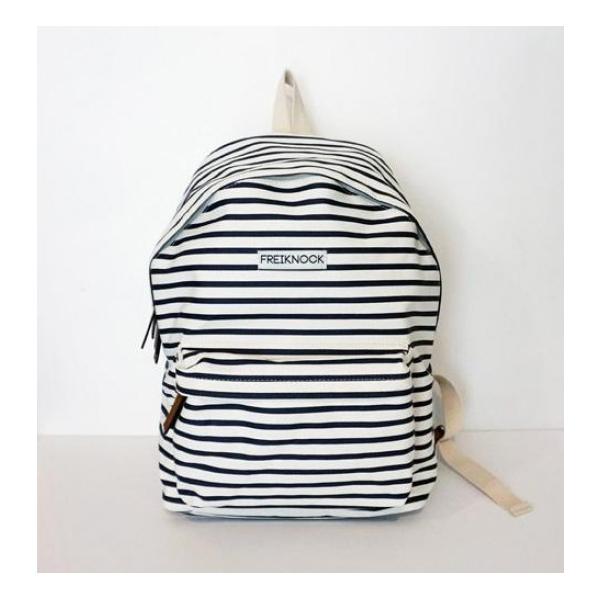 FREIKNOCK Stripe Backpack Navy [unisex]