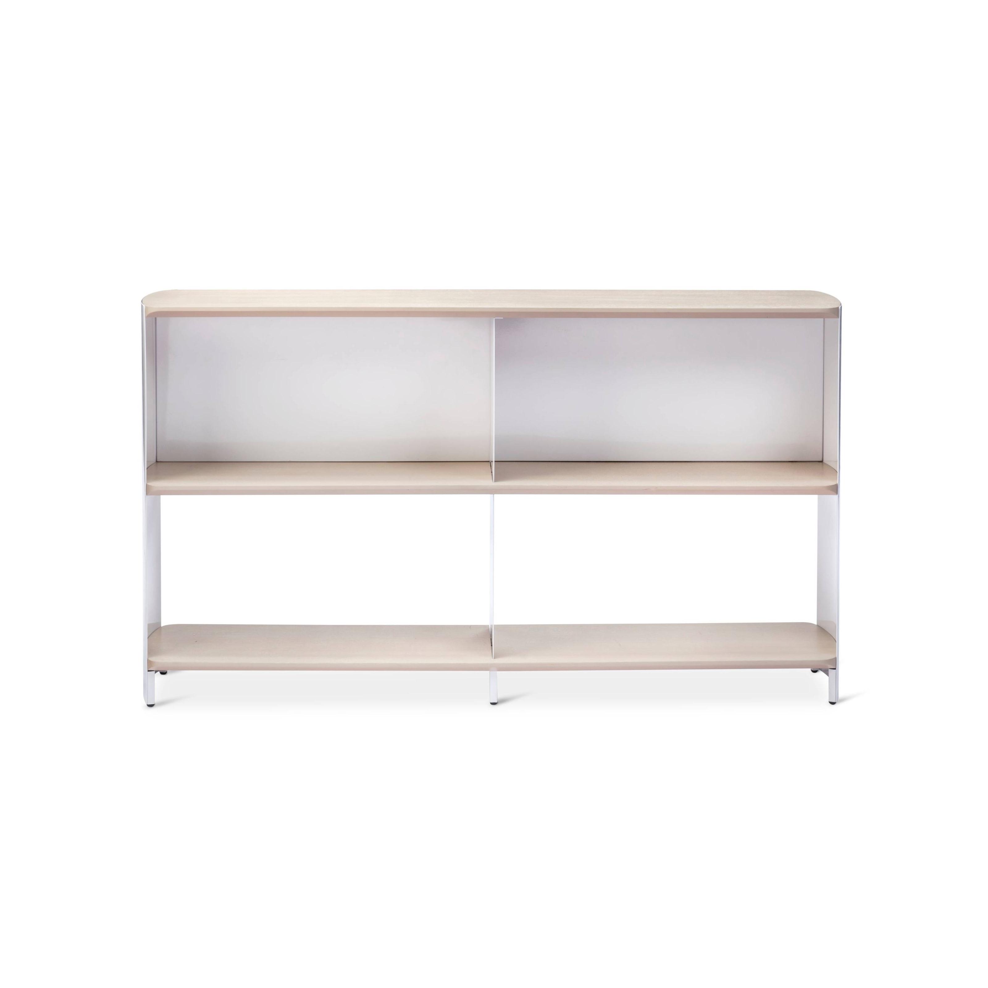 Modern By Dwell Magazine Bookshelf Wide White Natural