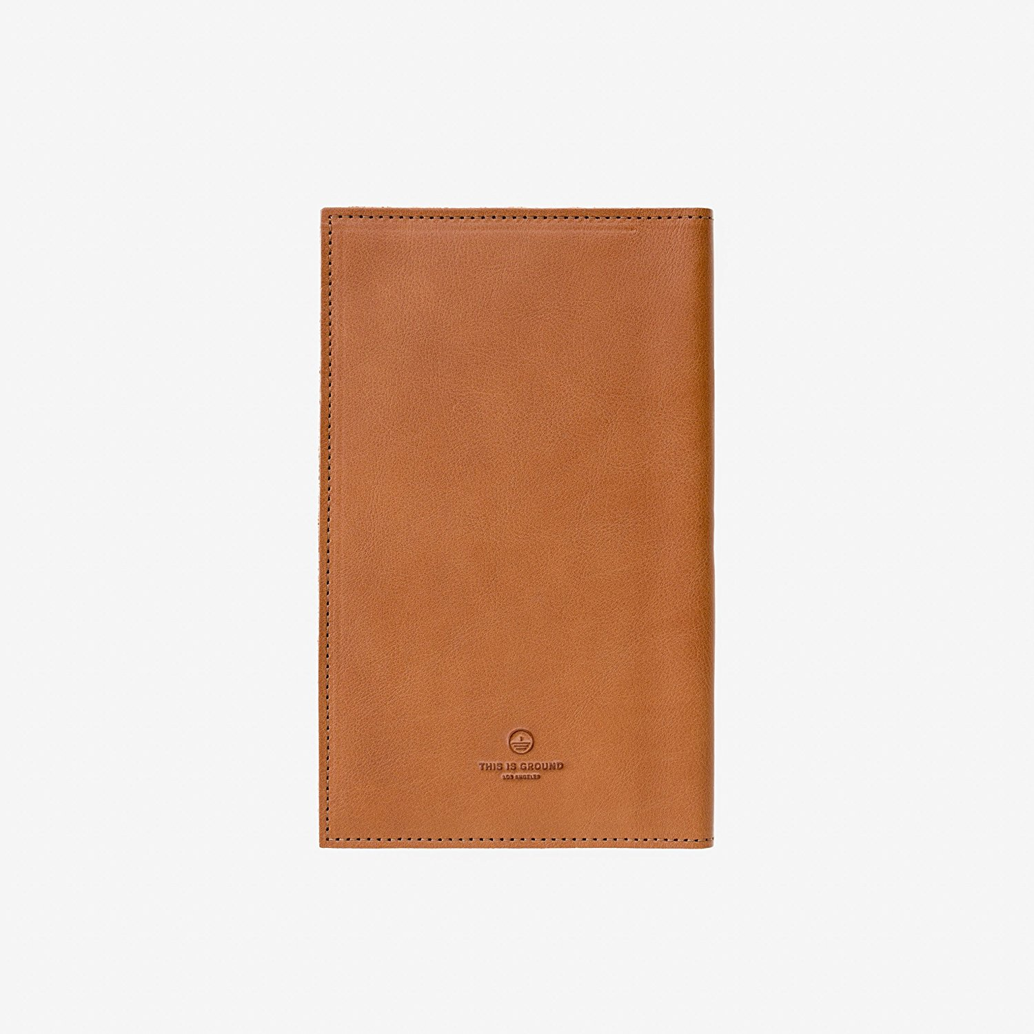 Medium:100% Real Italian Leather Notebook Cover – holds Smartphone & Notebook by This Is Ground