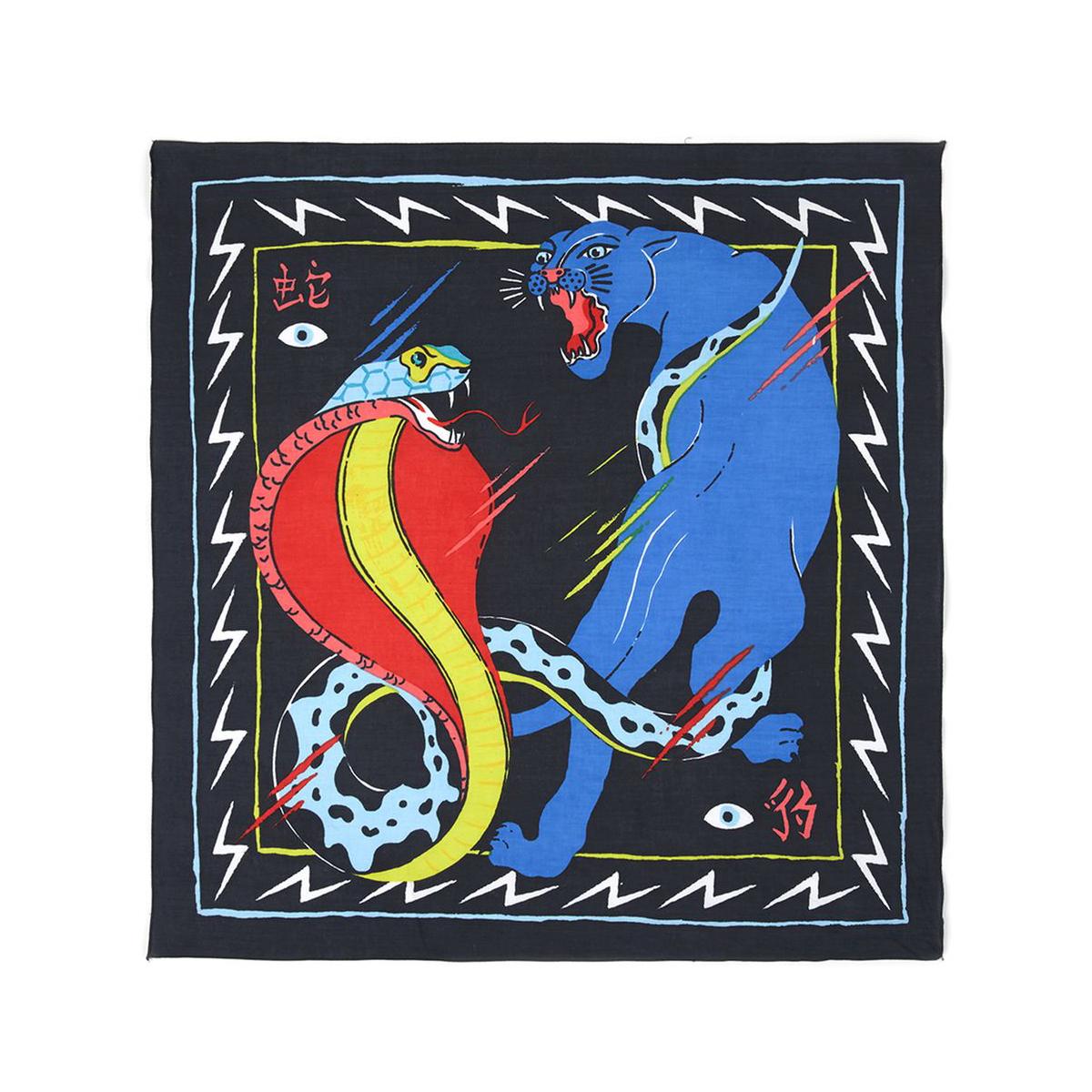 TOPMAN Snake And Panther Print Bandana