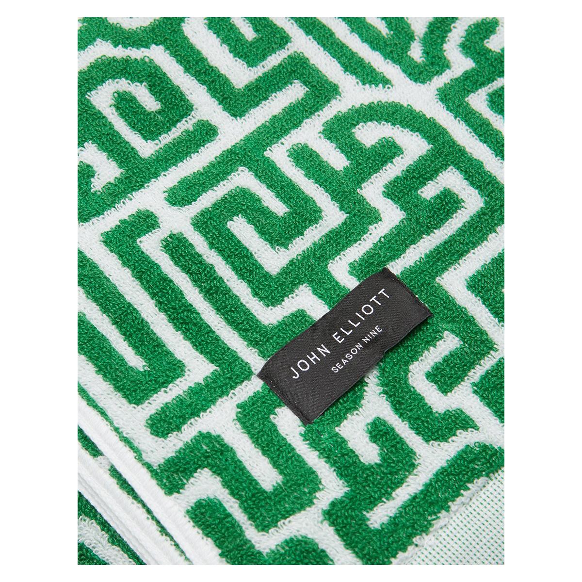 JOHN ELLIOTT Moroccan Beach Towel in Green
