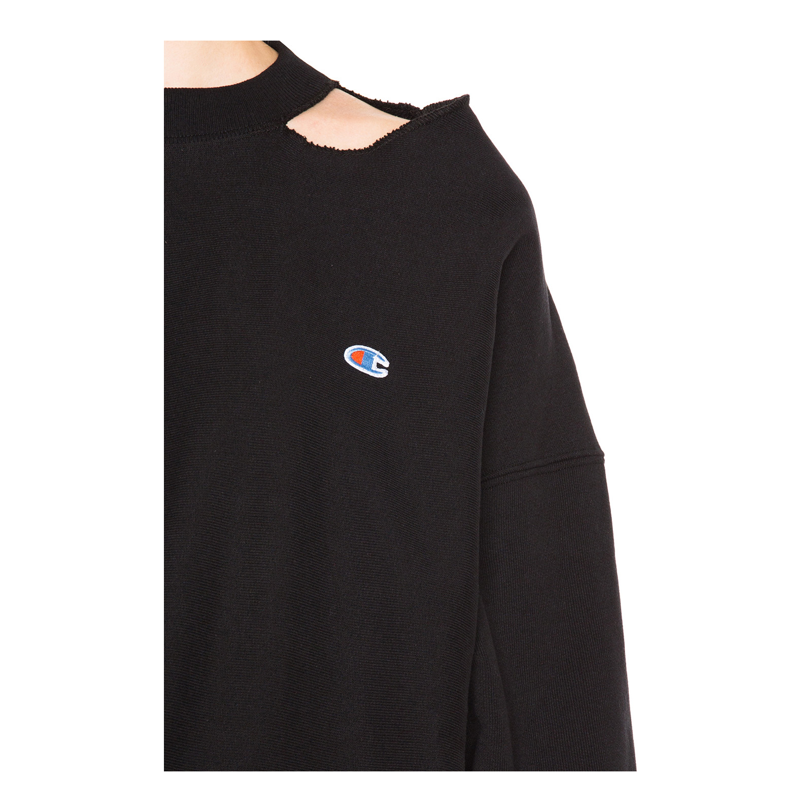 VETEMENTS X CHAMPION Cut Out Neckline Sweatshirt