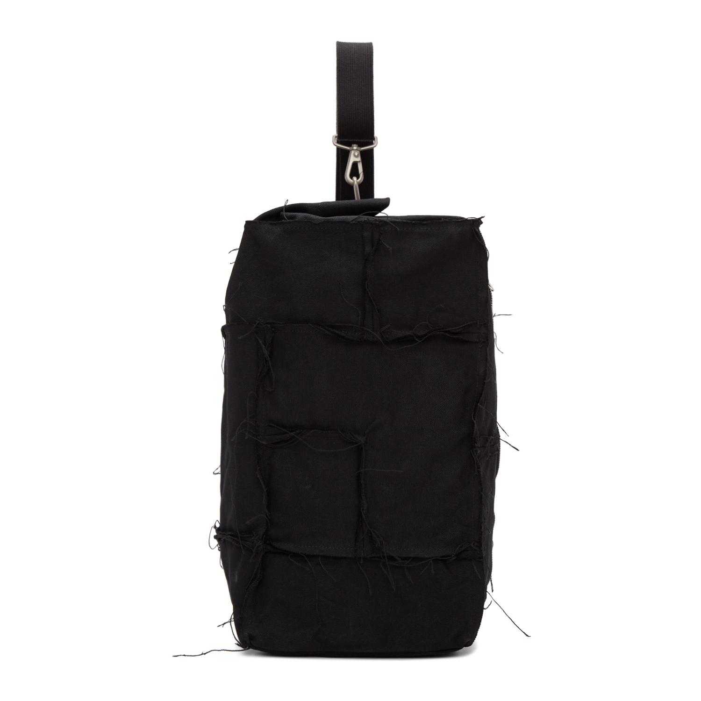 JUNYA WATANABE Black Canvas One Shoulder Backpack