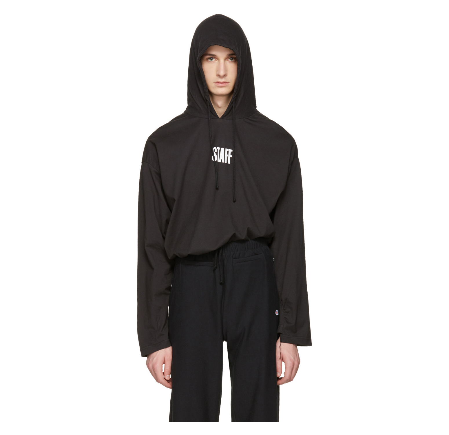 VETEMENTS Black Hanes Edition 'Staff ' Hoodie