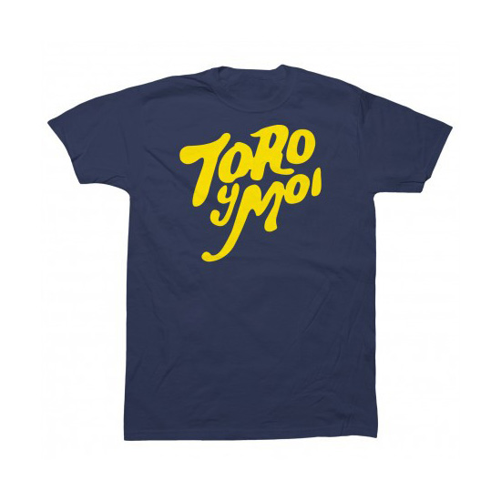 TORO Y MOI T-SHIRT NAVY W/ GOLD INK