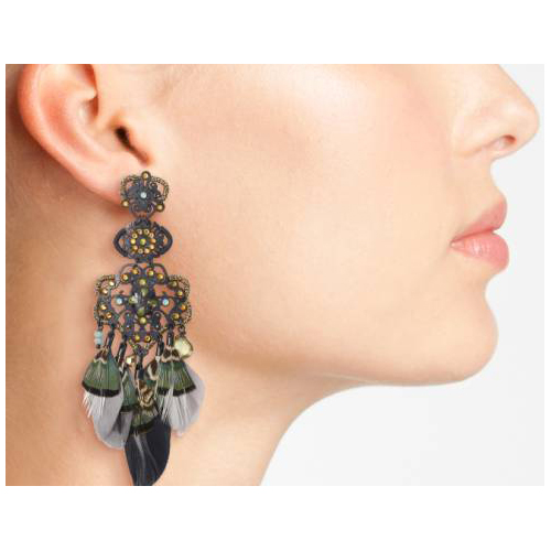GAS BIJOUX Huichol Drop Earrings