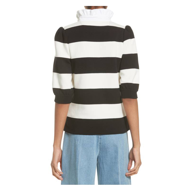 MARC JACOBS Puff Sleeve Rugby Sweater