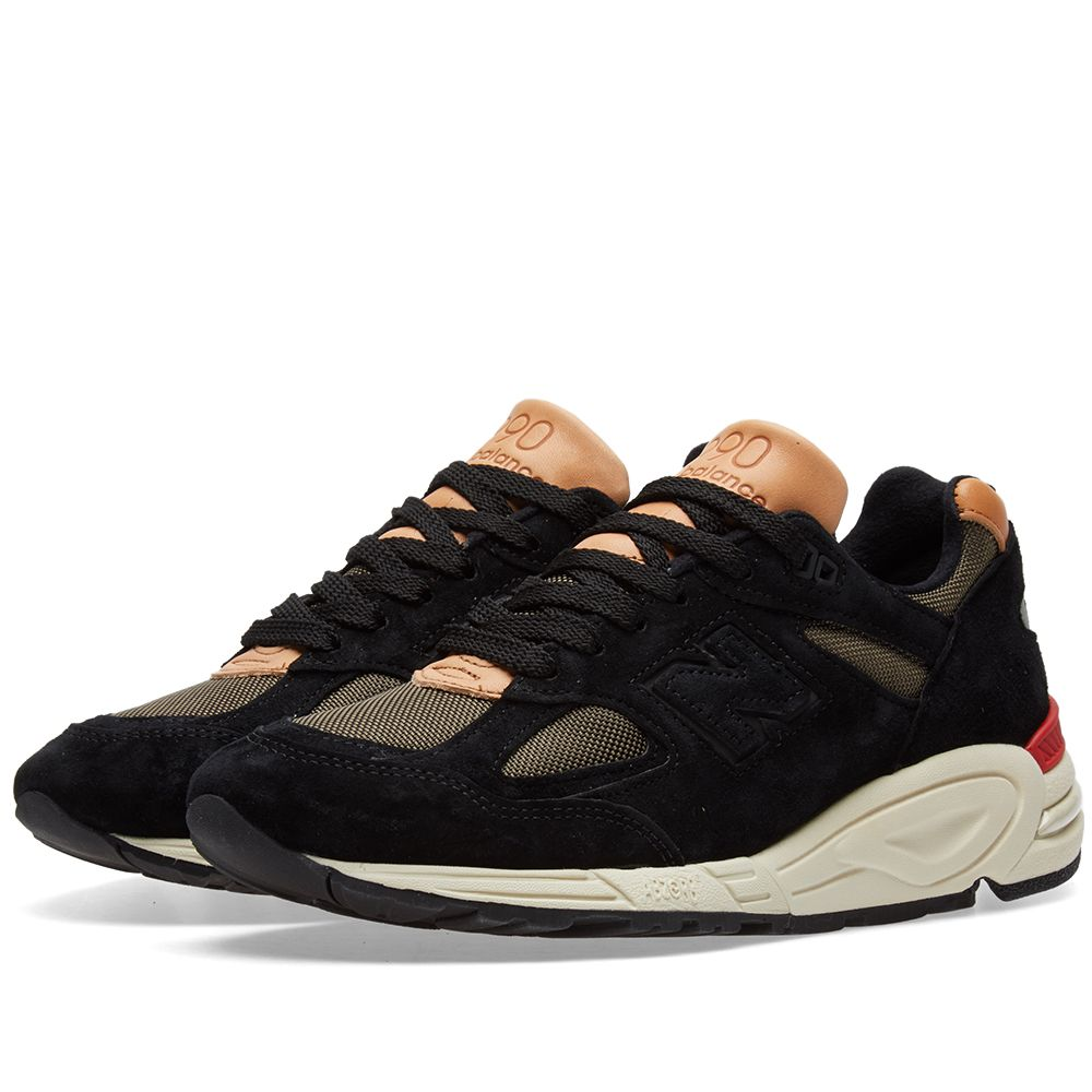 New Balance M990CB2 – Made In The USA , Black, Beige & Red