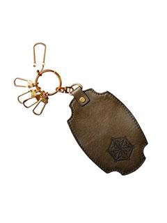 Leather Keychain 'Makizara 'Rolling Dish' Sculpt'