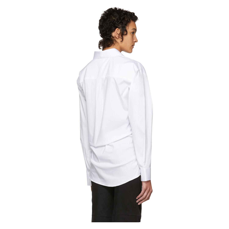 VETEMENTS Vetements White Secretary Decollage Shirt