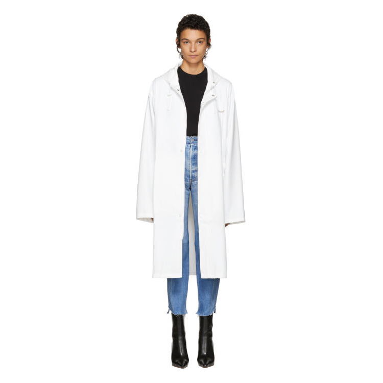 VETEMENTS White Logo Raincoat
