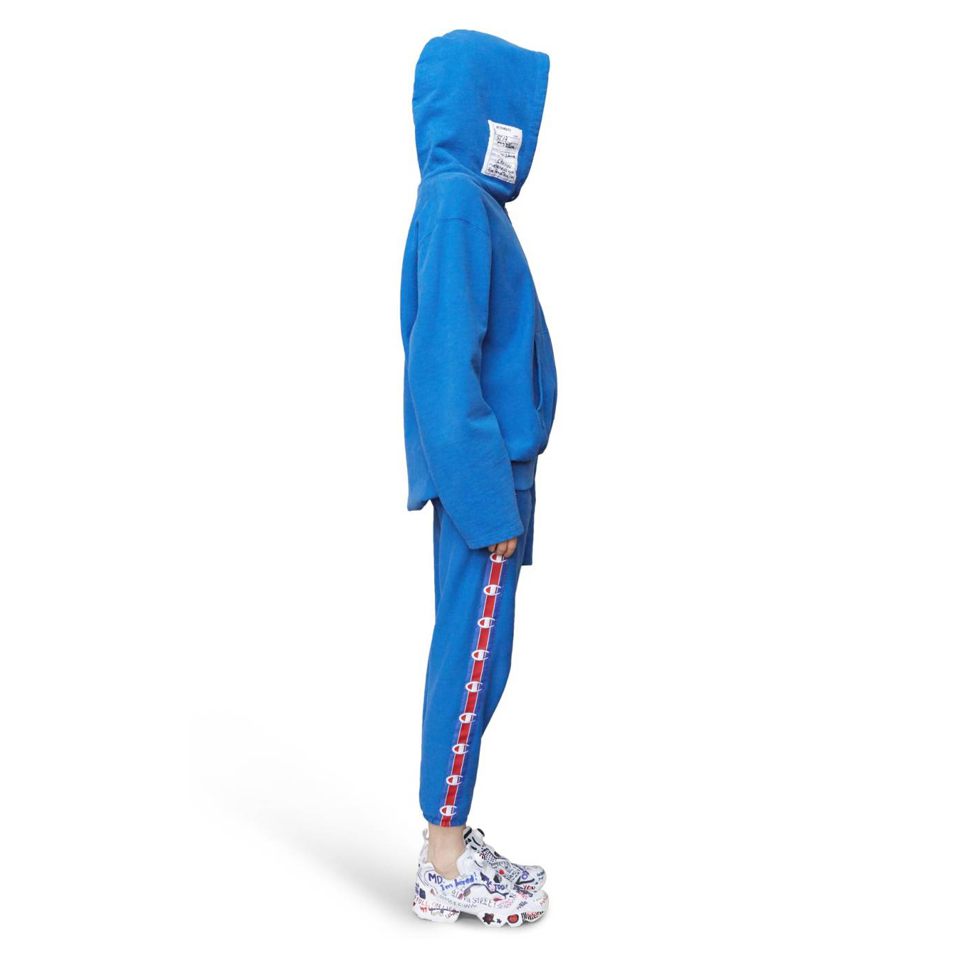VETEMENTS x Champion Cold Shoulder Hoodie
