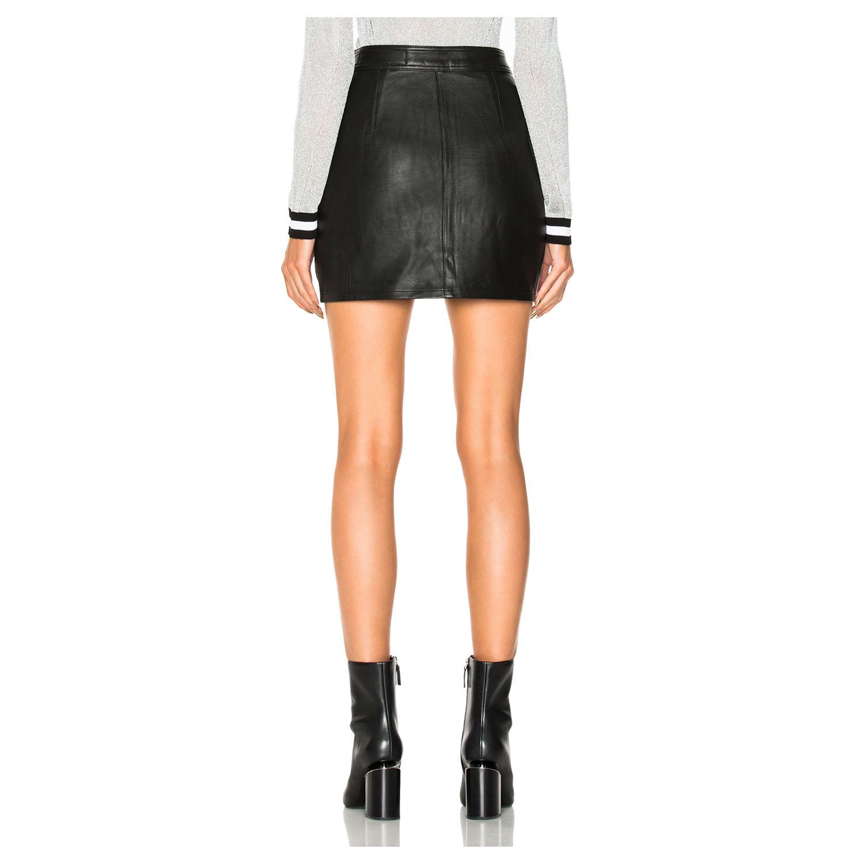 RAG & BONE/JEAN  Racer Leather Skirt