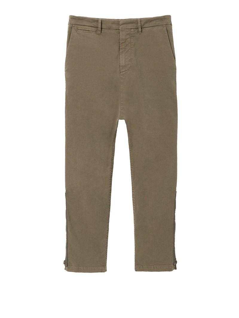 Army Green Jackson Zipper Pant