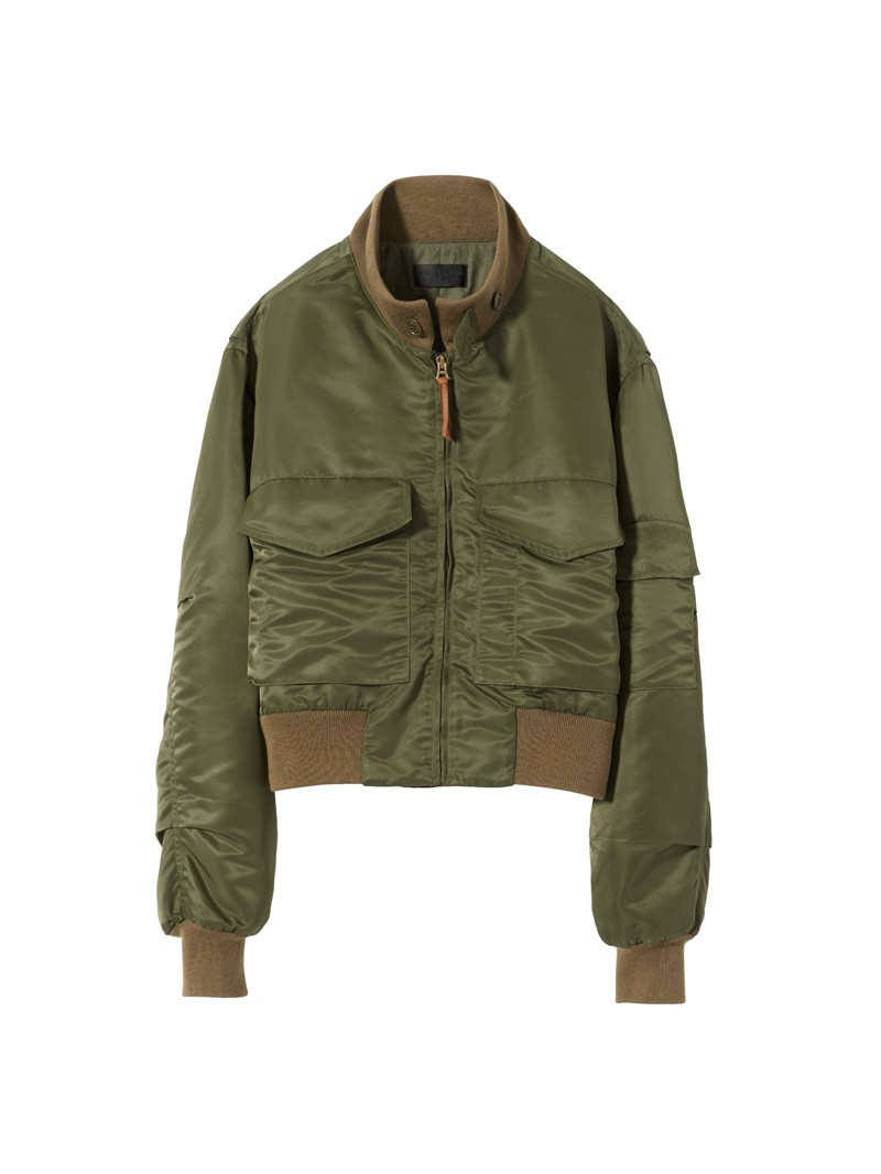 Army Green Mcguire Bomber Jacket