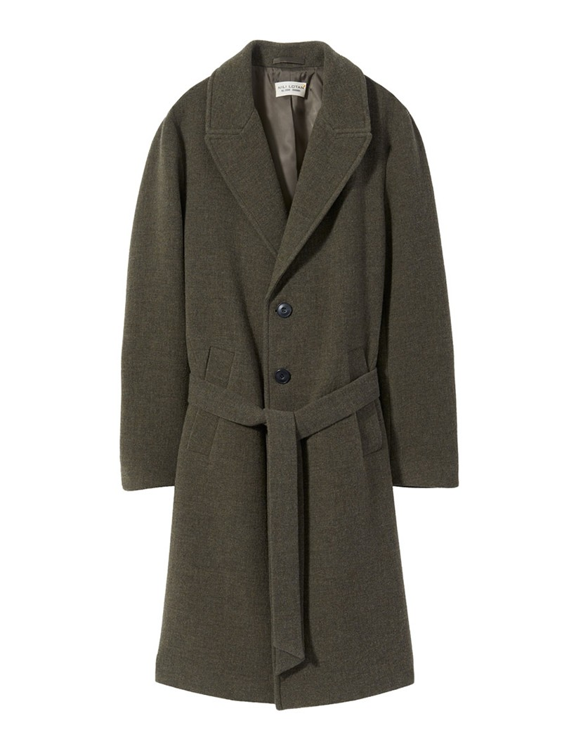 NILI LOTAN Men's Army Green Sawyer Coat