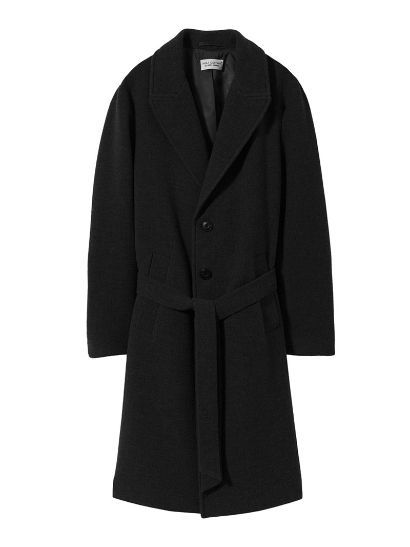 NILI LOTAN Men's Black Sawyer Coat