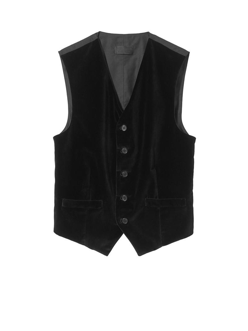 NILI LOTAN Black Velvet Enzo Vest