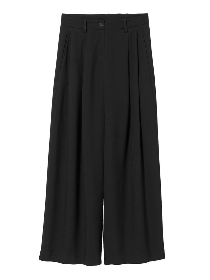 Black Wool Inez Pant