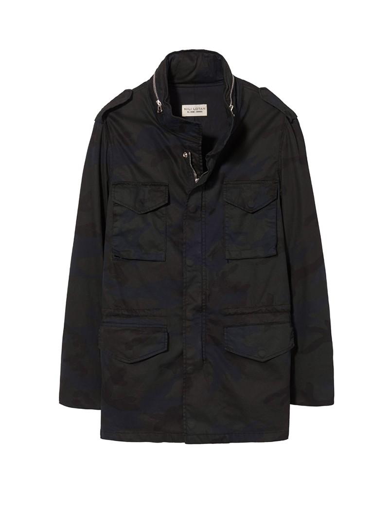 NILI LOTAN Men's Dark Navy Camouflage Print Stonewall Jacket
