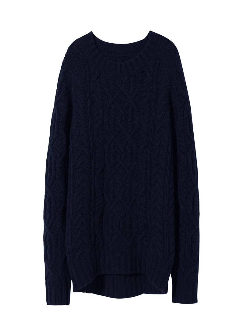 NILI LOTAN Dark Navy Kingsland Cashmere Sweater