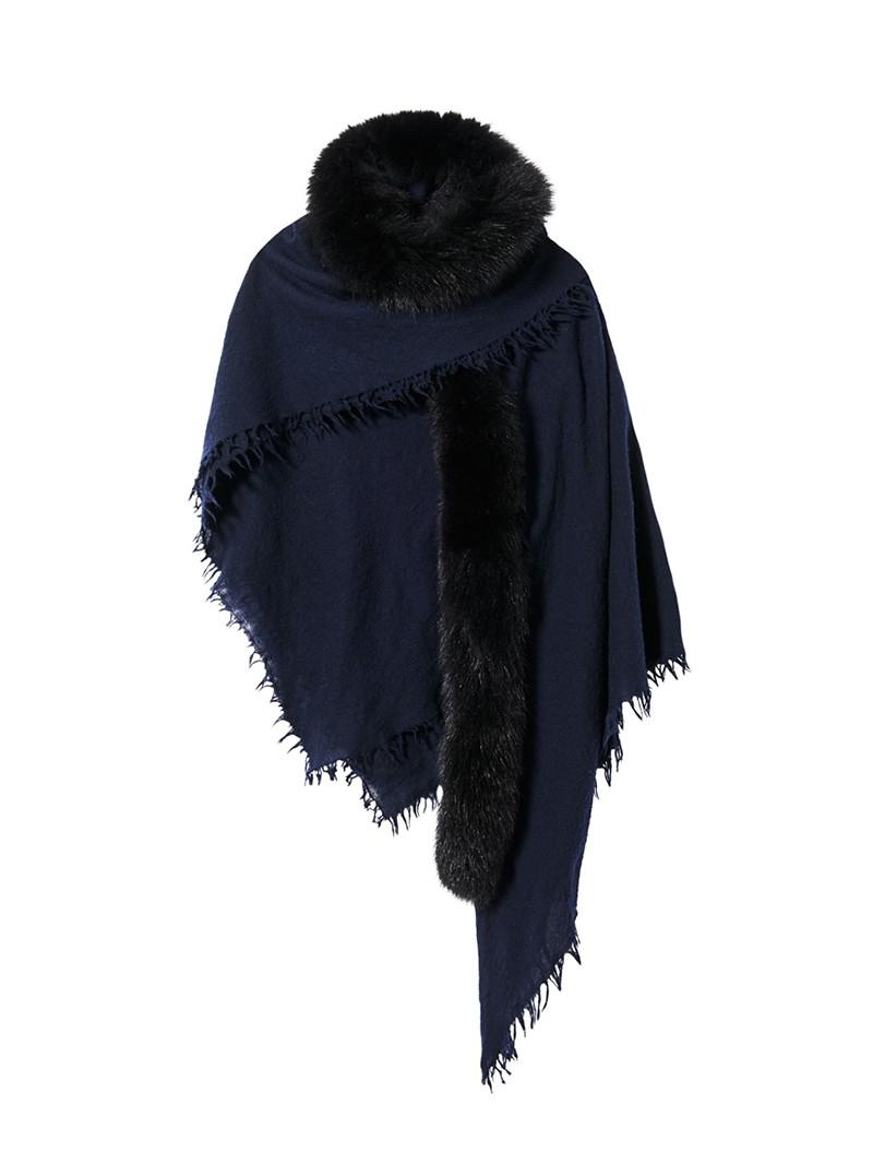 Dark Navy Wool Neriah Scarf