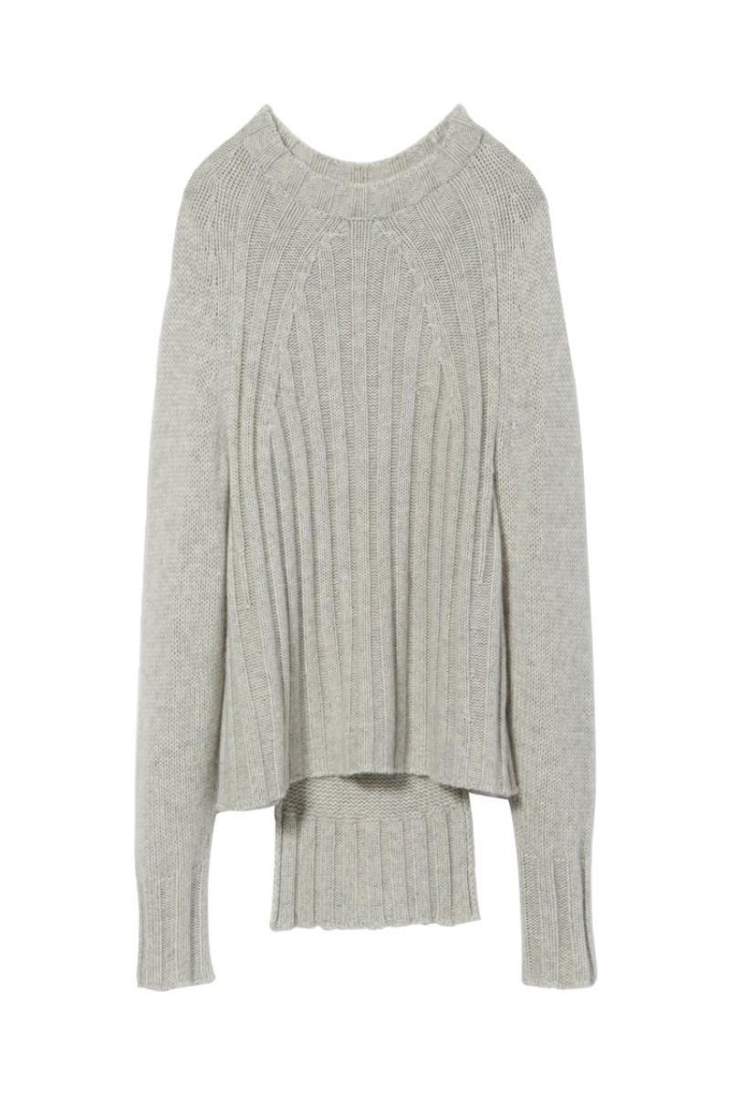 Light Grey Melange Cashmere Everly Sweater