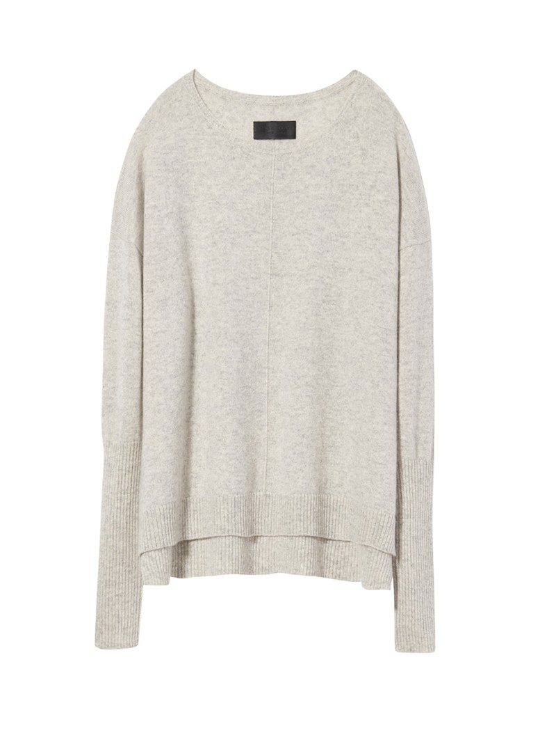 Light Grey Melange Cashmere Sivan Sweater