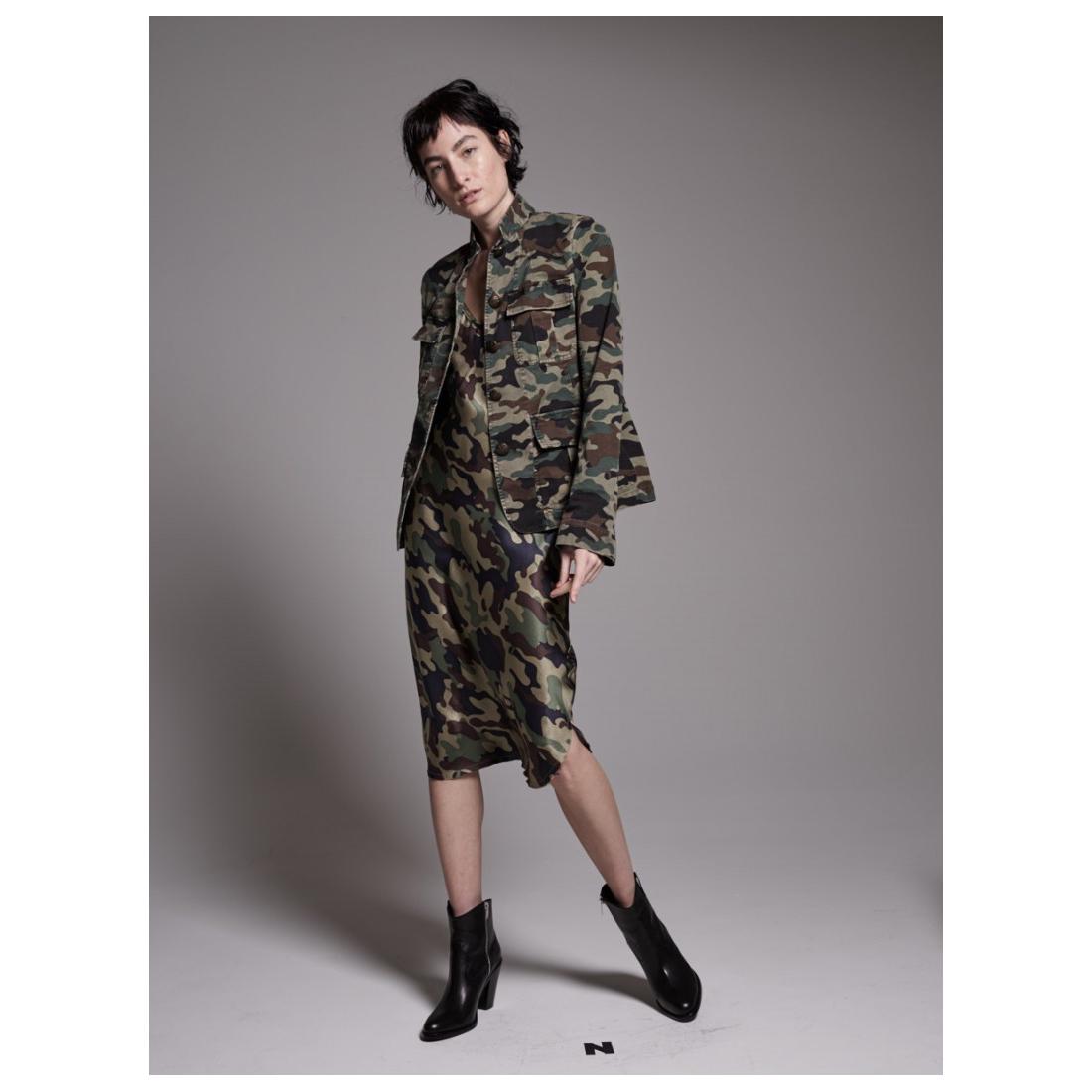 NILI LOTAN Light Camouflage Print Cambre Jacket