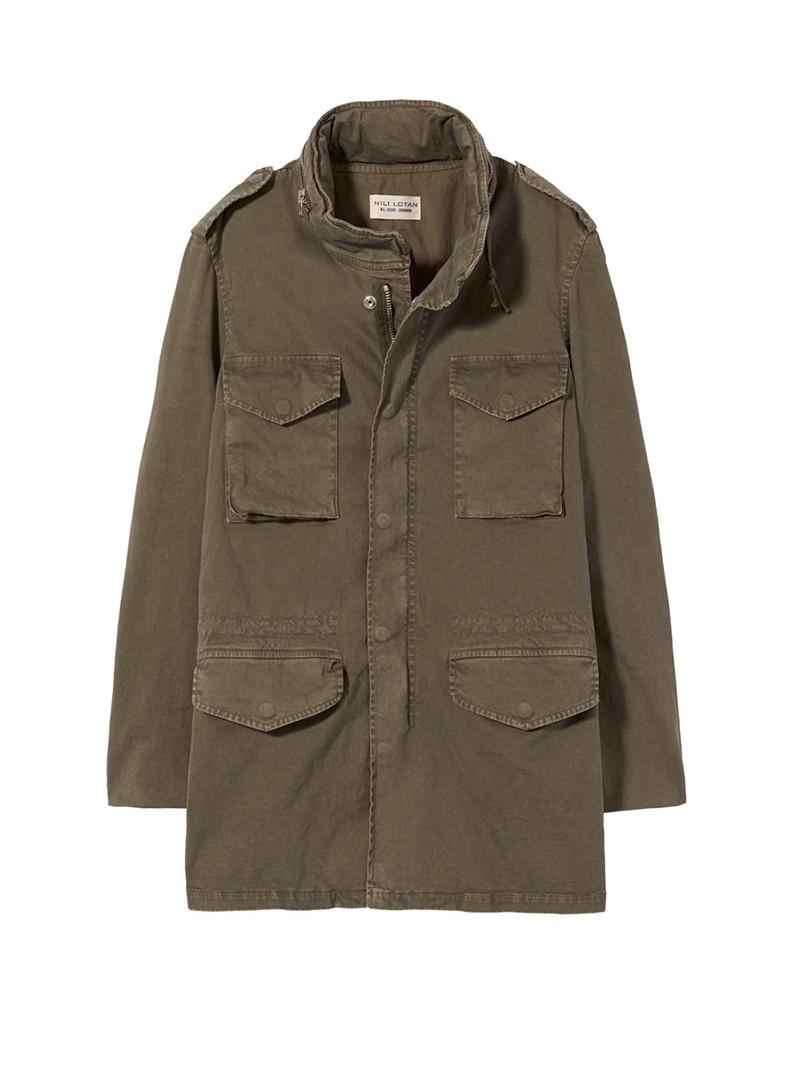NILI LOTAN Men's Moss Green Stonewall Jacket