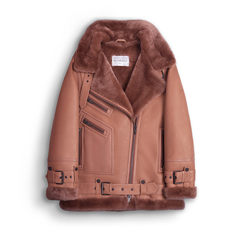 THE ARRIVALS Moya III LMTD Oversized Shearling