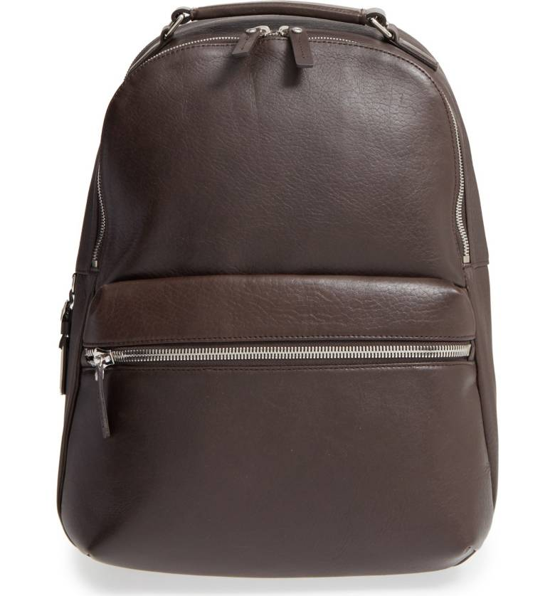 Shinola Runwell Leather Laptop Backpack