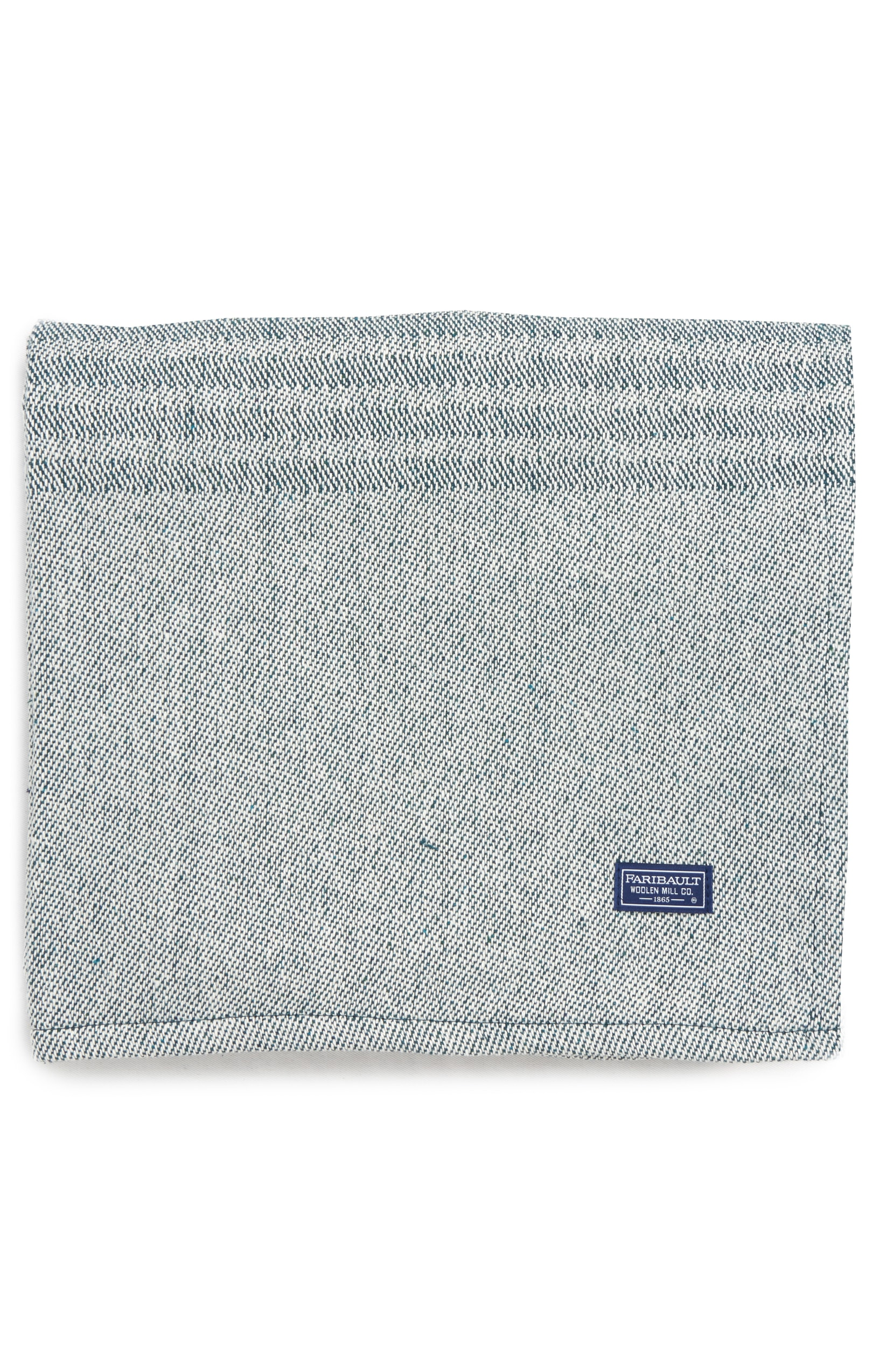 FARIBAULT WOOLEN MILL Recycled Cotton Beach Throw Blanket