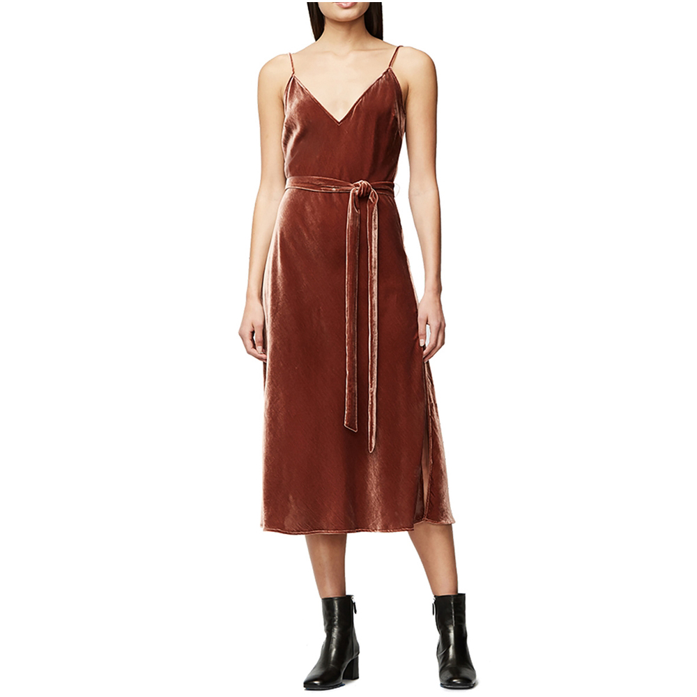 FRAME Velvet Slip Dress