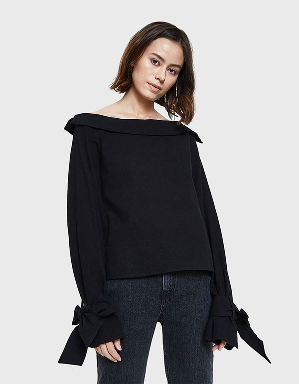 STELEN Alessandra Top In Black